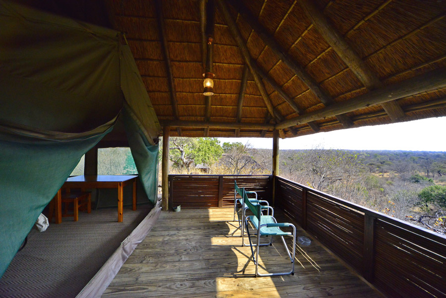 Makutsi Tent covered terrace