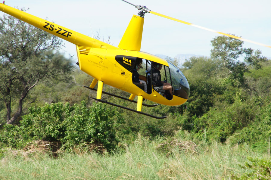 Makutsi Heli Patrol flight